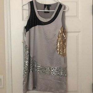 Gorgeous Silver Sequin dress